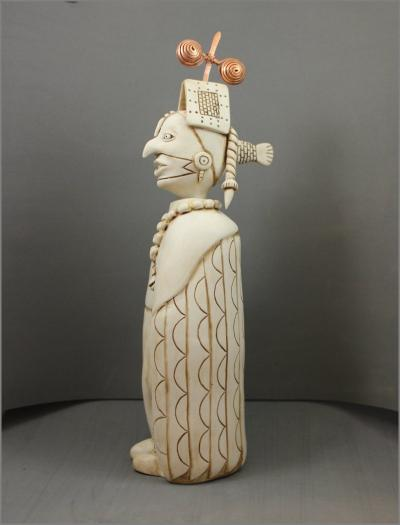 Birdman Effigy Bottle - Porcelain