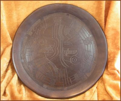 Incised Plate - Serpent Design