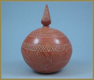 Round Caddo Style Pot - Small